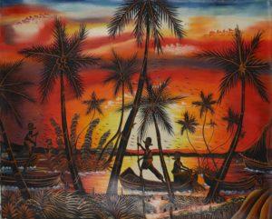 11p($50)-Fishermen, red dawn-20x24(Guy t Dil)
