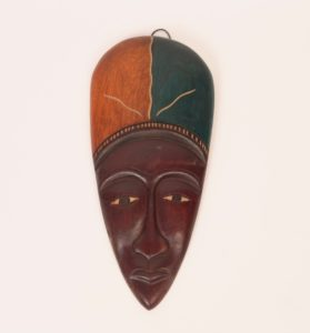 27c($15)-Woman with headdress-12x5.5x1